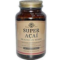Solgar, Супер асаи, Бразильская ягода, 50 гелевых капсул