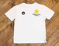 Детская летняя футболка для мальчика белая Звездочка р.116
