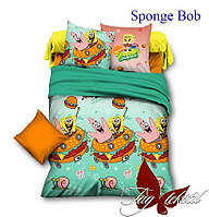 Детское полуторное постельное белье Губка Боб