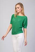 Джемпер с коротким рукавом зеленого цвета
