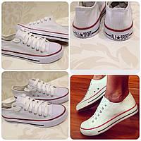 Кеды Converse style  белые, фото 1