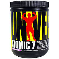 Universal Nutrition, Atomic 7, добавка, аминокислоты с разветвленной цепью, приятный виноград, 412 г