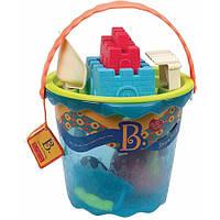 Набор для игры с песком и водой Battat Lite Мега-ведерце Море 9 предметов