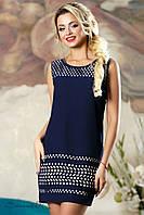 Женское летнее слегка приталенное платье синее