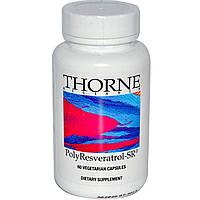 Thorne Research, PolyResveratrol-SR, ПолиРесвератрол 60 капсул