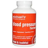 Michael's Naturopathic, Blood Pressure Factors Формула для Артериального Давления 180 овощных таблеток