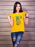 Футболка летняя с принтом ананас