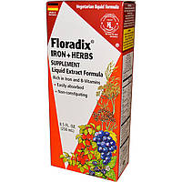 Flora, Флорадикс (Floradix), железо + лекарственные травы, жидкий экстракт, 8,5 жидких унций (250 мл)
