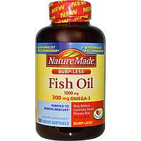 Nature Made, Рыбий жир, Омега-3, 1000 мг, 150 жидких капсул