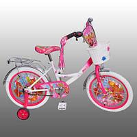 "Велосипед детский 18""  Winx, белые колеса."