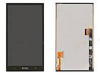 Дисплей для HTC 801e One M7 + touchscreen, чёрный, оригинал (Китай)