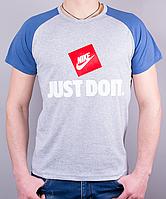 """Мужская футболка-реглан """"Nike Just Do It"""" отличного качества"""
