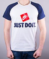 "Стильная мужская футболка-реглан ""Nike Just Do It"""