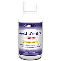 MRM, Ацетил L-карнитин, вкус лемонада, 1000 мг, 480 мл