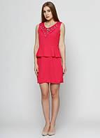 9803 Платье малиновое