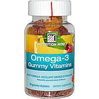 Nutrition Now, Омега-3 жевательные таблетки, формула для взрослых, 60 жевательных таблеток