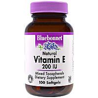 Bluebonnet Nutrition, Витамин E, 200 МЕ, 100 гелевых капсул