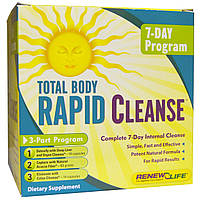 Renew Life, Total Body Rapid Cleanse, Complete 7-Day Internal Cleanse, 3 Part Program