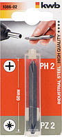 Бита двухсторонняя KWB PH 2 x PZ 2 x 60 мм 108602