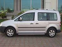 Рейлинги для Volkswagen Caddy 2004- (фольксваген кадди) цвет Хром
