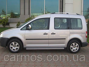 Рейлинги для Volkswagen Caddy 2004- (фольксваген кадди) цвет Хром
