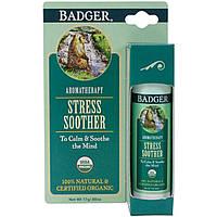 Badger Company, Средство для снятия стресса, мандарин и розмарин, 0,60 унций (17 г)