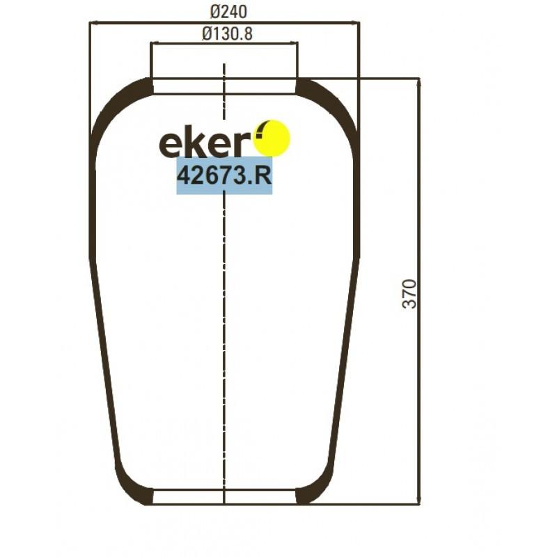42673.R Подушка чулок 673N на IVECO, DAF, MB, VOLVO, SETRA, SCANIA