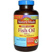 Nature Made, Рыбий жир без послевкусия 1200 мг, 200 гелевых капсул