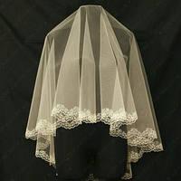 Свадебная фата с компьютерной вышивкой 1.5х1.5м