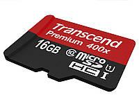 Карта памяти 16 Gb microSD Transcend UHS-I 400X Premium (TS16GUSDCU1)