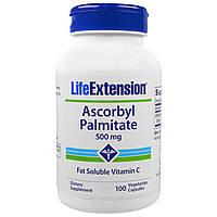 Life Extension, Аскорбил пальмитат, 500 мг, 100 растительных капсул