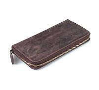 Мужской кожаный клатч в винтажном стиле коричневый (00352)
