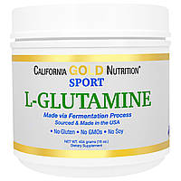 California Gold Nutrition, SPORT, Kyowa Hakko, Pure L-Glutamine Powder, 16 унций (454 г)