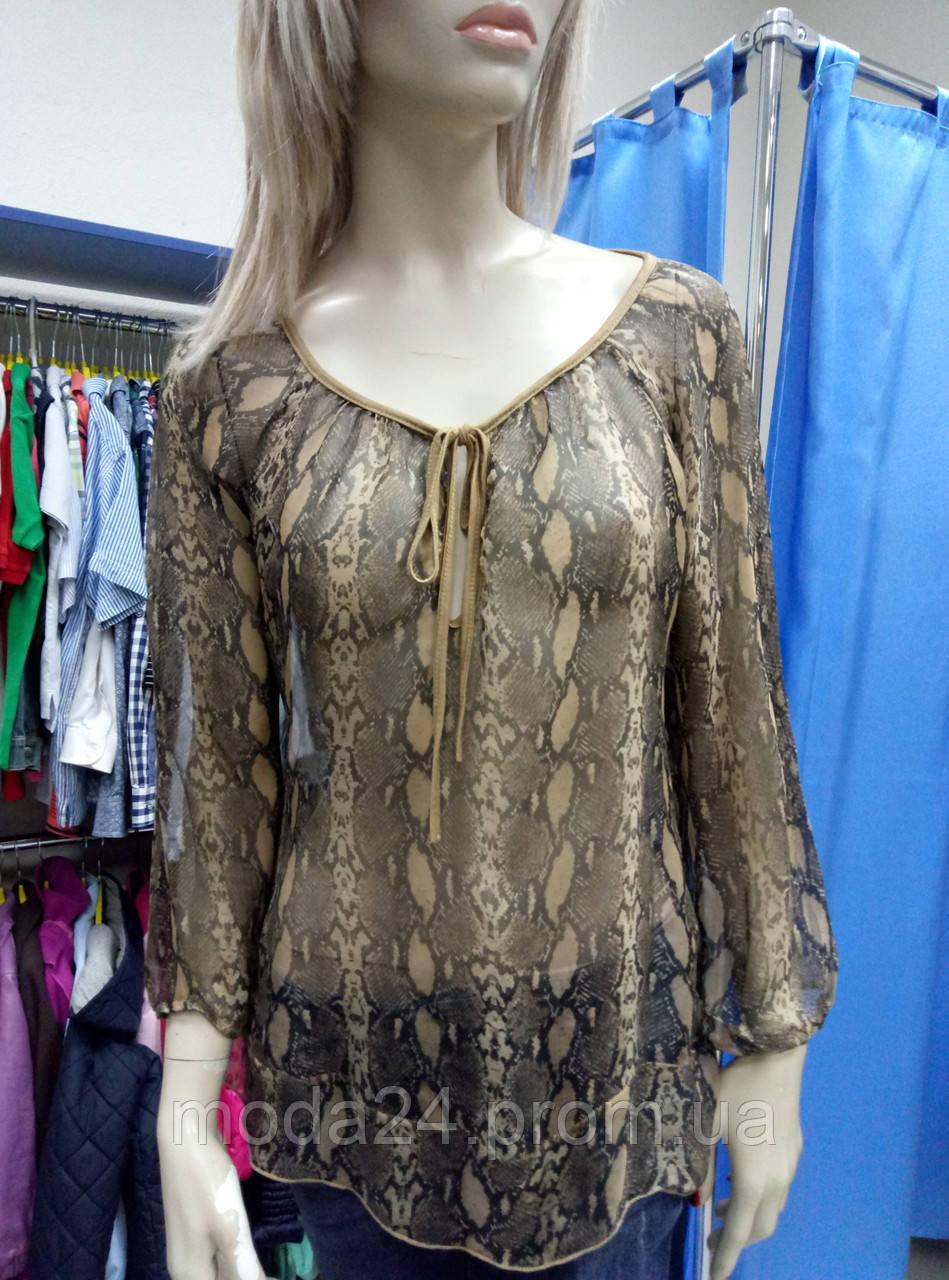 Блуза шелковая со змеиным принтом anyplace - Магазин модной брендовой одежды в Киеве