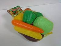 Набор пластиковых овощей 9 штук