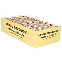 American Health, Натуральный фермент папайи, жевательные таблетки, 16 ролов, по 12 таблеток в каждом