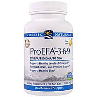 """Nordic Naturals, """"ПроНЖК- 3-6-9"""", пищевая добавка с НЖК (EFA), 1000 мг, 90 мягких желатиновых капсул с жидкостью"""