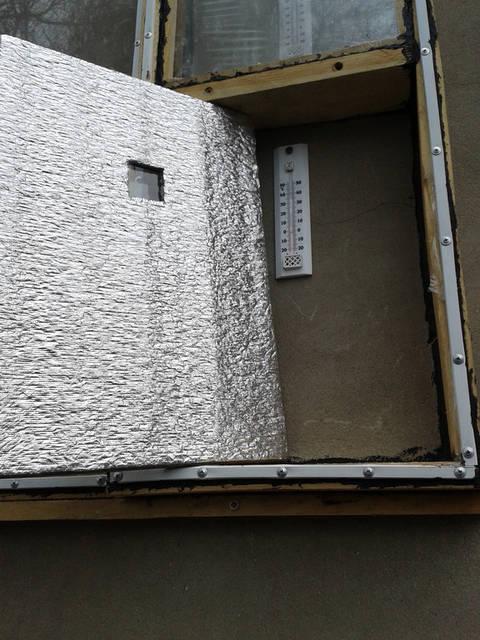 Воздух, как термоизолятор наглухо закрытый плёнкой, обеспечивает максимальный эффект.