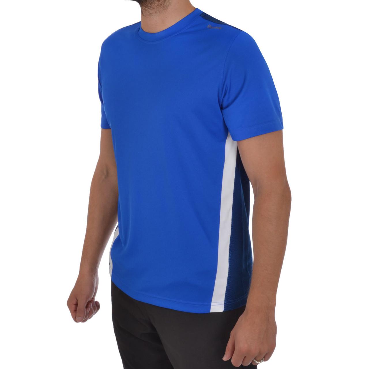 Футболка спортивная, мужская Reebok Playdry Mens Short Sleeve Relaxed Fit Running Gym T Shirt X50428 адидас
