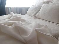 Постельное белье из льна, Молочный, двуспальный