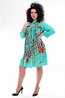 Платье женское бирюзовые, вискоза, 50-54 размер