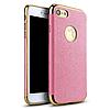 Чехол-накладка iPaky (OR) Leather TPU with Chrome for iPhone 7 Pink