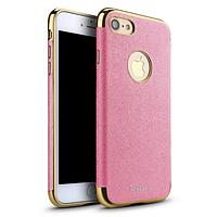 Чехол-накладка iPaky (OR) Leather TPU with Chrome for iPhone 7 Pink, фото 1