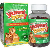 Hero Nutritional Products, Yummi Bears, натуральная пища + антиоксиданты, фруктовые вкусы, 90 шт.