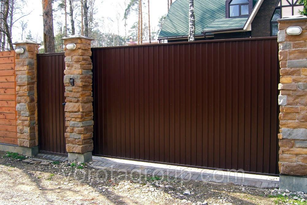 Откатные ворота из профлиста DoorHan Revolution 2,8м*2м