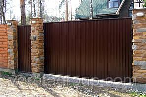 Відкатні ворота з профлиста DoorHan Revolution 2,8 м*2м