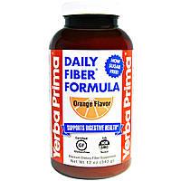 Yerba Prima, Смесь клетчатки Daily Fiber, вкус апельсина, 340 г