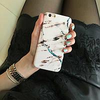 Дизайнерский пластиковый чехол белый мрамор для iPhone 6/6s