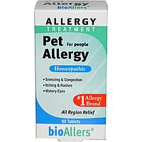 NatraBio, bioAllers, лечение аллергии на домашних животных, 60 таблеток