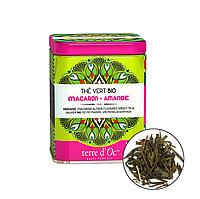 Органический зелёный чай с ароматом миндального печенья,100г Terre d'oc